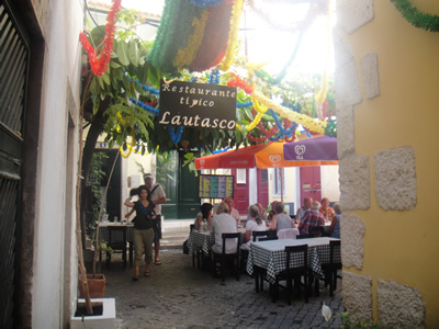 Alfama Lisbon typical restaurant