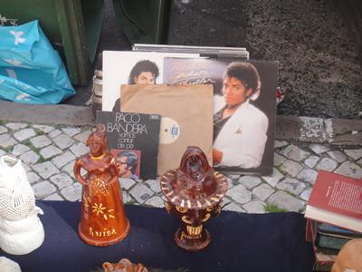 Feira da Ladra legendary market Lisbon Michael Jackson thriller album