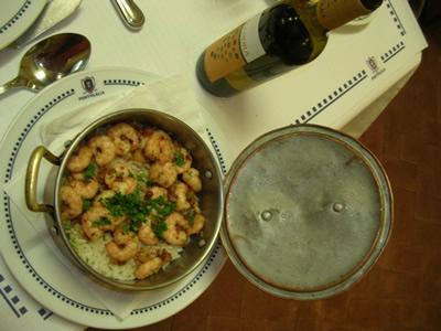 Portugalia cervejaria Lisbon Avenida Almirante Reis Shrimps Garlic