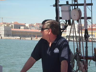 Dirk Gesink, The Dutch Lion Lisbon cruises Tagus river