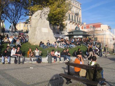 Lisbon Adamastor gathering place Tagus River5
