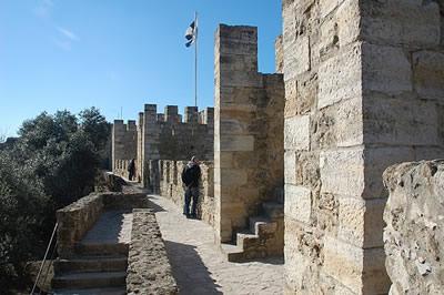 Lisbon Castle of St George tower 1