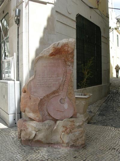Mouraria historical center fado plaque