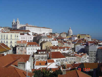 Lisbon general view on the Alfama