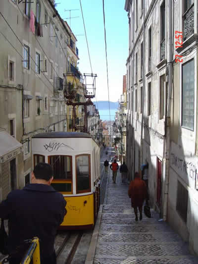 Lisbon tram in Bica
