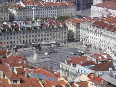 Lisbon overview Praca da Figueira