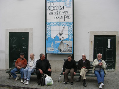 Alfama History old people