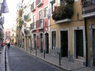Bairro Alto Rua da Rosa by day