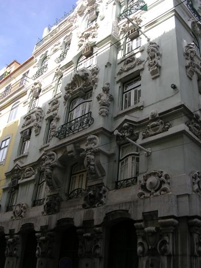 Lisbon Baixa beautiful buildings