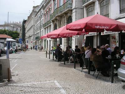 Lisbon restaurant O panteao near Feira da Ladra terrace
