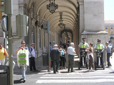 Lisbon Safety Police Praca do Commercio