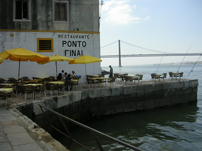 Lisbon Restaurant Ponto Final view bridge