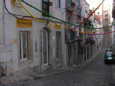 Lisbon cheap restaurants Toma La Da Ca street