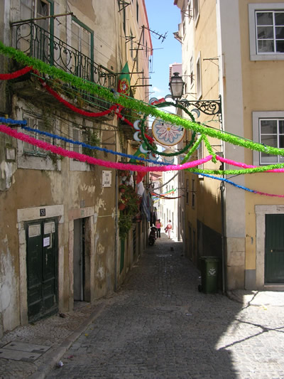 Lisbon Santo Antonio June garlands Mouraria