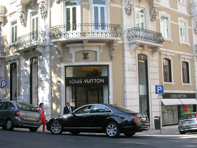 Lisbon Shopping Avenida da Liberdade Luis Vuitton boutique