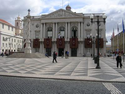 Lisbon Baixa Rua do Arsenal City Hall