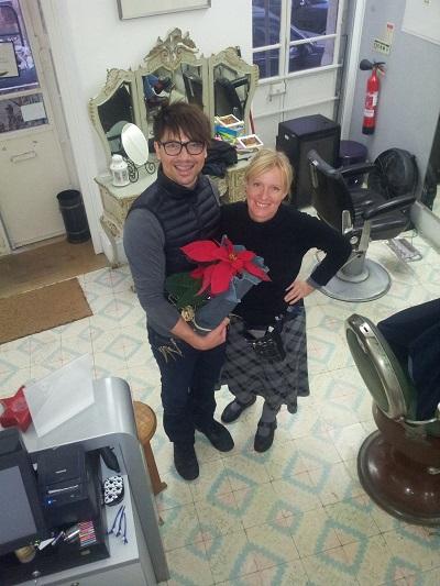 Aurelio Ramos hairdresser Lisbon e Birgit Damke Dec 14