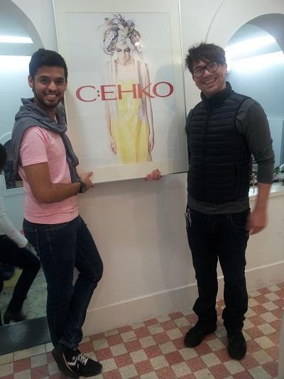 Aurelio Ramos hairdresser Lisbon e Marcio Neris
