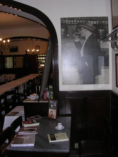 Restaurant Martinho da Arcada table Pessoa famous Portuguese writer