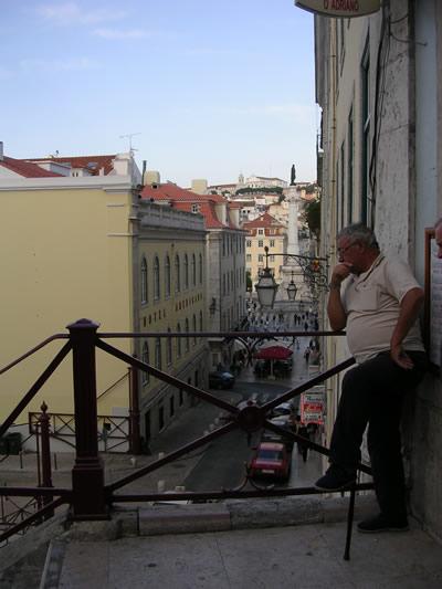 Lisbon Calcada do Duque Largo do Carmo view Rossio