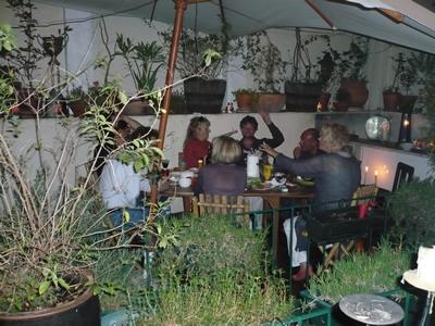 Lisbon Mouraria apartment dinner patio September 2008