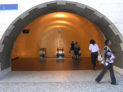 Metro Station Baixa Chiado entrance tiles