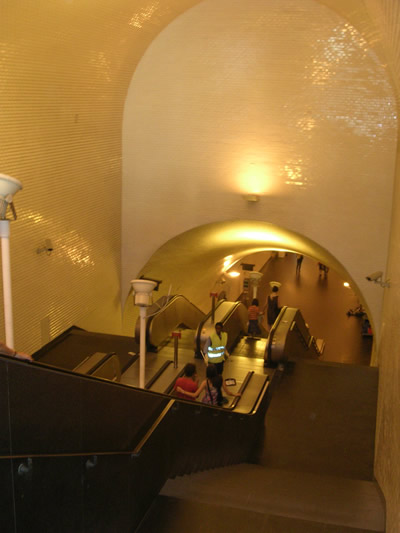 Metro Station Baixa Chiado escalator