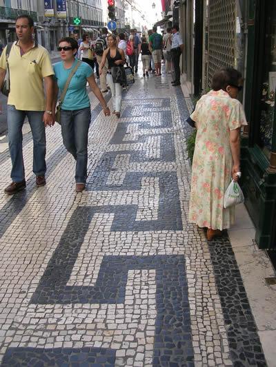 Lisbon pavement Rua Aurea