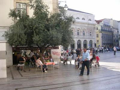 Lisbon Rossio near Restauradores