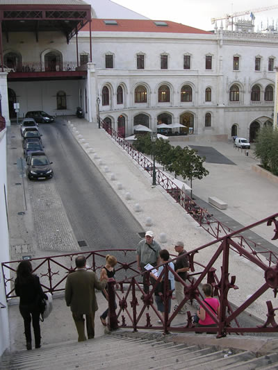 Calcada do Duque near Rossio stairs and station