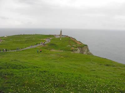 Cao da Roca monument with crusifix