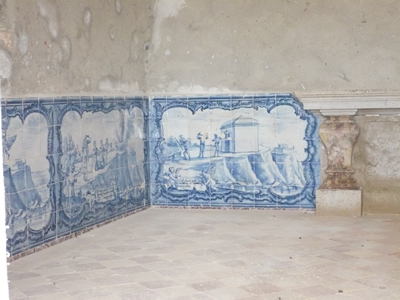 Cabo da Roca tiles in church