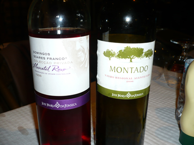 Restaurant 'Tropical Meco' Meco wine Montado and liqueur Moscatel Roxo