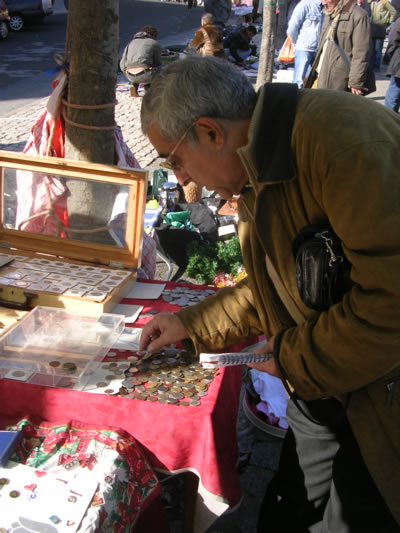 Coins collectors Feira da Ladra