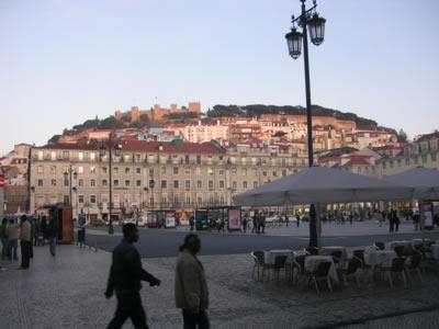 Kisbon Praca da Figueria view from terrace Suica
