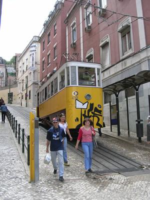 Funicular Electrico Avenida da Liberdade Restauradores naar Bairro Alto
