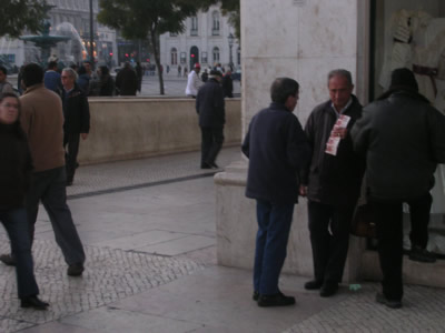 Lisbon Rossio lottery ticket sellers