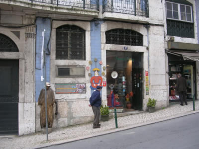 Portuguese traditional handicraft shop Santos Oficios Rua da Madalena