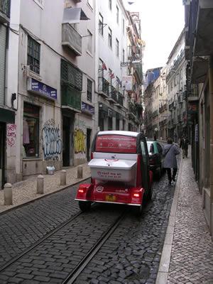 Lisbon Red Tour car Mouraria