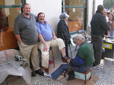 Rossio Lisbon Shoe shine boy