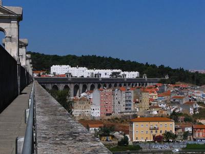 Lisbon Aqueduct Arches Walk