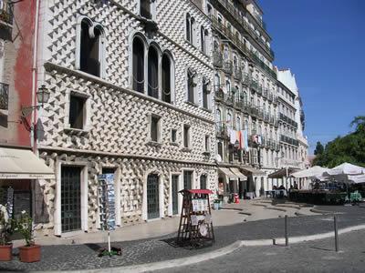Lisbon Rua dos Bacalhoeiros Casa dos Bicos
