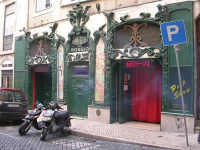 Rua dos Sapateiros2 Art Nouveau old Cinema peep shows