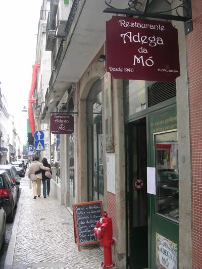 Rua dos Sapateiros Lisbon: cheap traditional cafes, restaurants & peep shows5 Restaurant Adego Mo
