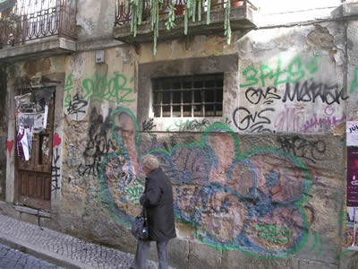 BairroAlto at by day graffiti