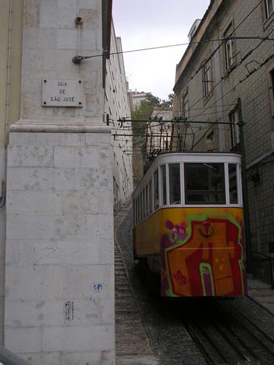 Lisbon funicular Lavra1 Rua de Sao Jose
