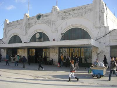 Lisbon metro station Praca do Comercio