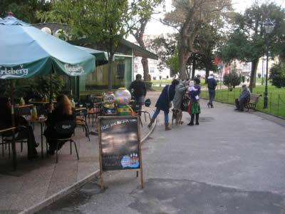 "Monument dr Martin Sousa13 Jardim da Cordoaria cafe ""O Coreto'"