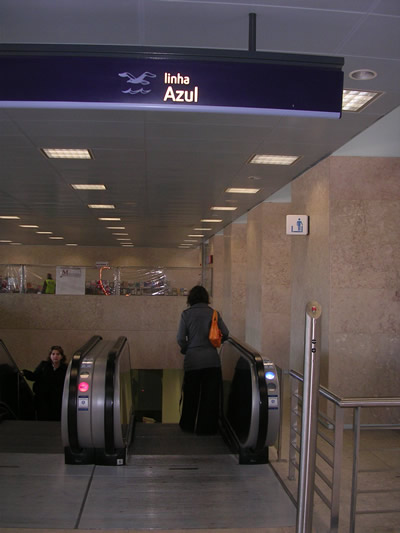 Lisbon Santa Apolonia Station metro