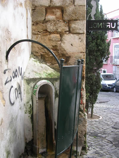 Lisbon open air urinal near St Jorge Castle
